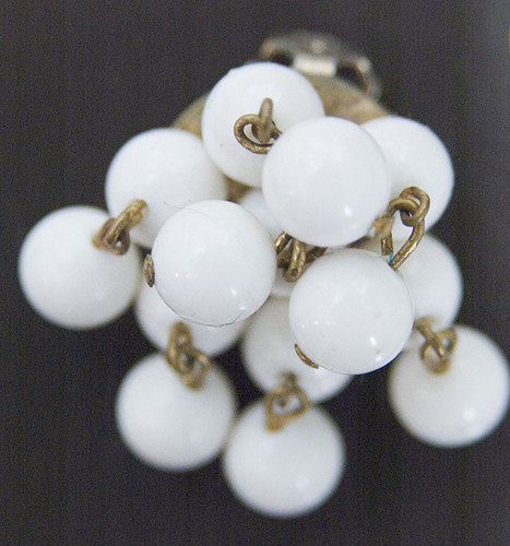 1960's White Cascading Clip Earrings | Flickr - Photo Sharing! | Vintage Whatever | Scoop.it