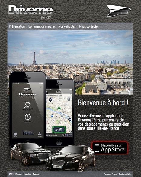 Drive me Paris service VTC premium | Machines Pensantes | Scoop.it
