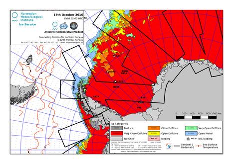 gif  animé des cartes des glaces 2015 & 2016 en péninsule #Antarctique #banquise   Arctique et Antarctique   Scoop.it