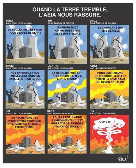 Quand la terre tremble l'AIEA nous rassure | Le Côté Obscur du Nucléaire Français | Scoop.it