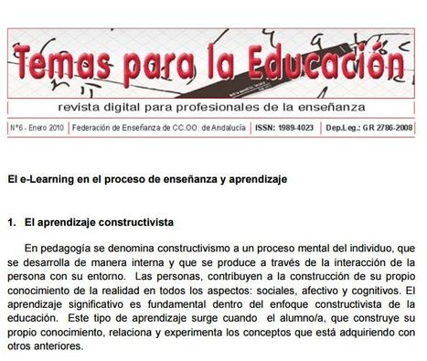 El e-Learning en el proceso de enseñanza y aprendizaje | E-learning, Moodle y la web 2.0 | Scoop.it