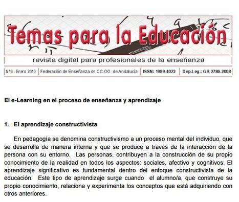 El e-Learning en el proceso de enseñanza y aprendizaje | E-learning, Moodle y la web 2.0 | Scoop.it