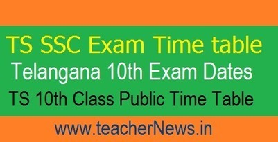 TS 10th Class Time Table 2018 Download - Telang