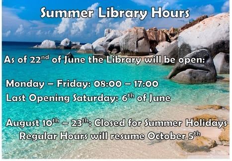 Library summer closing dates | University of Nicosia Library | Scoop.it
