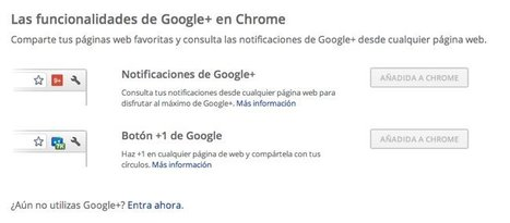 Google lanza dos extensiones de Google+ para Chrome | 2.0, Social Media y Marketing Online | Scoop.it