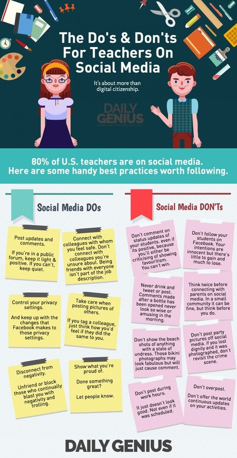 The Do's and Don'ts for Teachers on Social Media | Infographic | eSkills | ICT | Educational Use of Social Media | Scoop.it