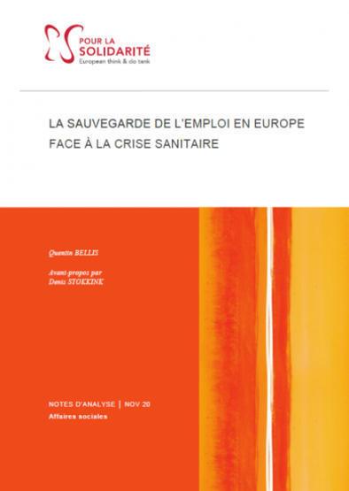 La sauvegarde de l'emploi en Europe face à la crise sanitaire