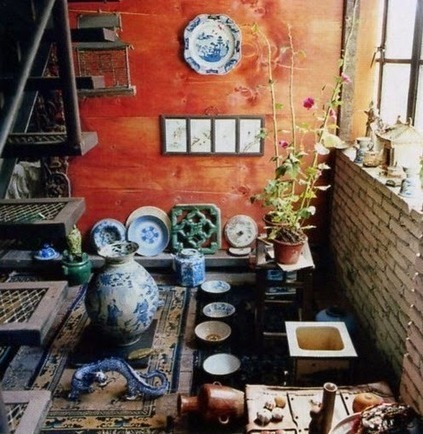 La Maison Boheme: Home Tour | French Painter Christian de Laubadère | Raw and Real Interior Design | Scoop.it