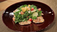 the chew | Recipe  | Michael Symon's Chicken With Kale, Cucumber And Tomato Feta Salad | skillful means for conscious living | Scoop.it