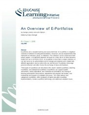 An Overview of E-Portfolios | EDUCAUSE.edu | kgitch on eLearning | Scoop.it