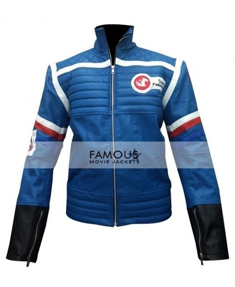 9d122c50ef06 Buy Online Party Poison My Chemical Romance Blue Leather Jacket Costume   Famous  Movie Jackets