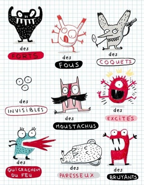 Description - Nouveaux monstres | Elise Gravel | FLE enfants | Scoop.it