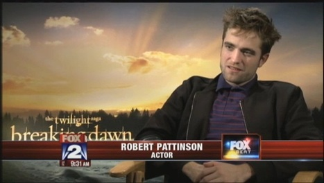 "Fox 2 News: Robert Pattinson reflects on his ""Twilight"" journey (BD2 Press Junket)   Robert Pattinson Daily News, Photo, Video & Fan Art   Scoop.it"