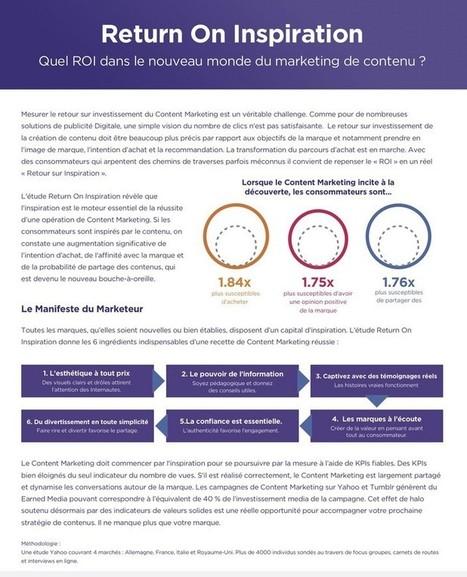 Yahoo! se penche sur ROI du content marketing - CB News | Marketing et management | Scoop.it