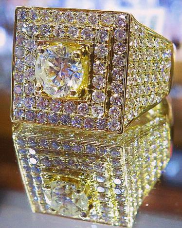 Mens Diamond Rings Hip Hop Jewelry