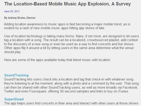 The Location-Based Mobile Music App Explosion, A Survey | Billboard.biz | music innovation | Scoop.it
