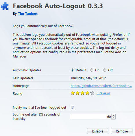 How To Automatically Logout From Facebook | Churnable | Scoop.it