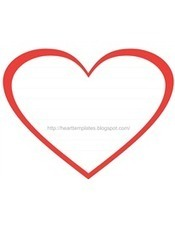 Free Red Heart Printable With Text Box Lines For Writing Letter