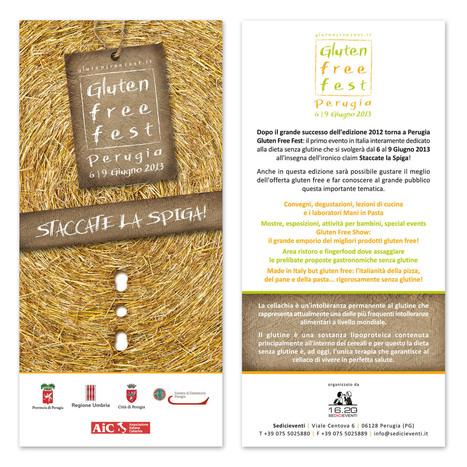 Gluten Free Fest :: Perugia - 6 | 9 Giugno 2013 :: STACCATE LA SPIGA! | FreeGlutenPoint | Scoop.it