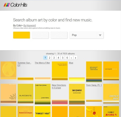 Album Art Search by Color - Colorhits | Des livres, des bibliothèques, des librairies... | Scoop.it