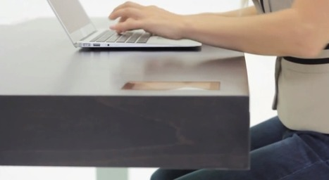This desk has WiFi, Bluetooth, APIs, a touchscreen, and will save years of your life | Internet of Things - Lars | Scoop.it