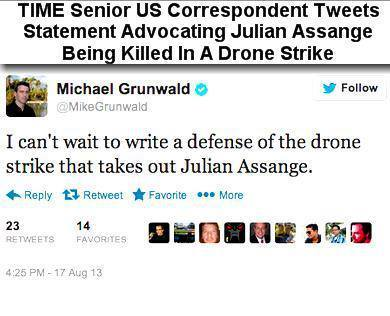 So TIME Mag reporter Mike Grunwald supports the murder of Julian Assange | Unthinking respect for authority is the greatest enemy of truth. | Scoop.it