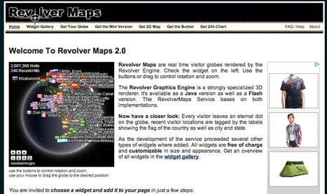RevolverMaps - Free 3D Visitor Maps | Blogging i skolen | Scoop.it