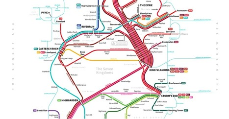 How to get around the 'Game of Thrones world' using the subway | Geo-visualization | Scoop.it