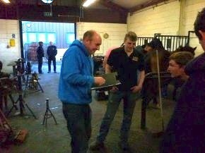 World Champion Blacksmith Steven Beane visits Myerscough College farriery students | Hoofcare and Lameness | Scoop.it