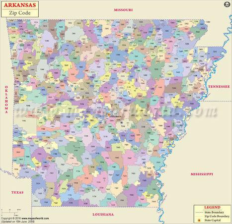 Arkansas Zip Codes | Map, List, Counties, and C...