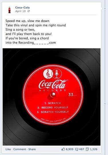 Les 5 façons dont Coca-Cola a créé son succès sur Facebook | Ardesi - Web 2.0 | Scoop.it