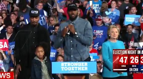 LeBron James And J.R. Smith Introduced Hillary Clinton At A Rally | LibertyE Global Renaissance | Scoop.it