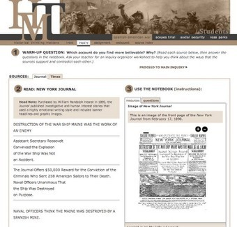 Free Technology for Teachers: Historical Thinking Matters - Multimedia Investigations in U.S. History | Creativity, Teaching, and Learning | Scoop.it