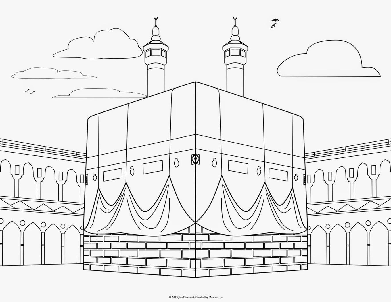 Gambar Mewarnai Islami Anak TK Dan SD Terbaru 2