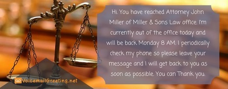 Sample voicemail greeting for law office voic law office voicemail greeting template m4hsunfo