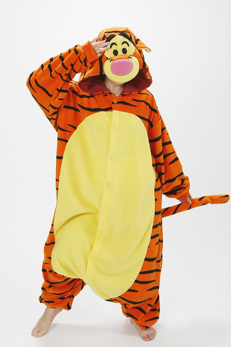 Tigger Adult Kigurumi Animal costumes,Animal onesies for adults, cute pajamas | my like | Scoop.it