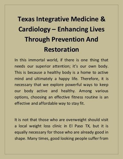 Integrative medicine weight loss
