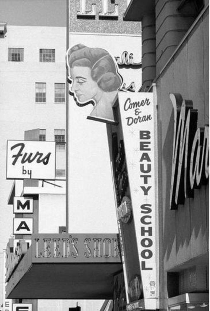 Beauty School sign, 1965…photo by Dennis Hopper.   Herstory   Scoop.it