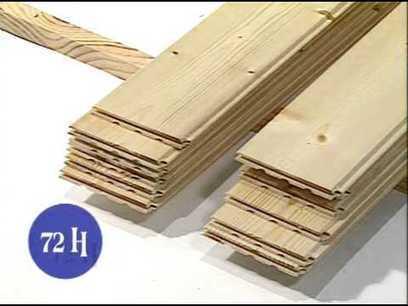 la pose d 39 un lambris bois avec des clips bric. Black Bedroom Furniture Sets. Home Design Ideas