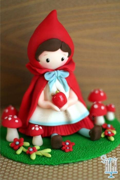 Decoration gateau petit chaperon rouge
