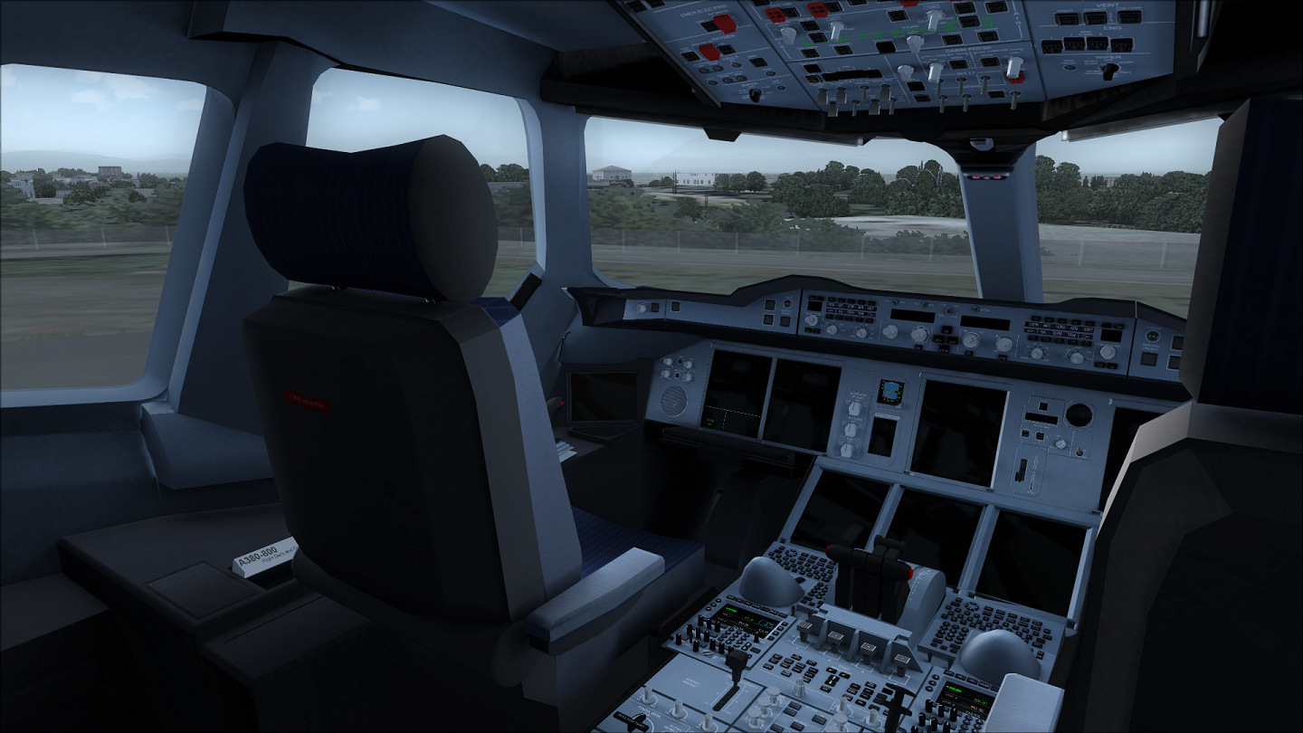 Project Airbus A380 Virtual Cockpit for FS9 Rel