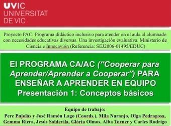 Cooperar para Aprender/Aprender a Cooperar | Montar el Mingo | Scoop.it
