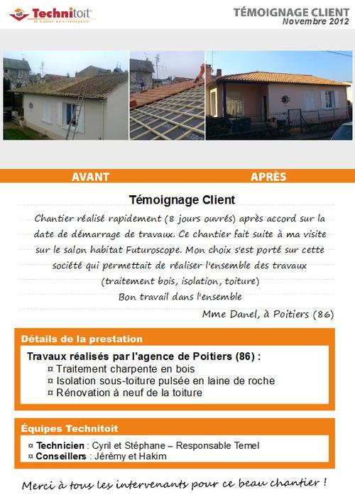 [Témoignage] Traitement charpente, rénovation et isolation toiture – Poitiers (86)