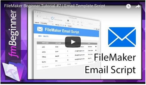 Emailing' in Learning FileMaker | Scoop it
