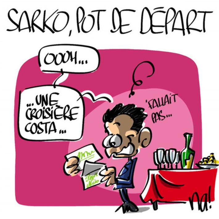 Le pot de départ de Nicolas Sarkozy   Baie d'humour   Scoop.it