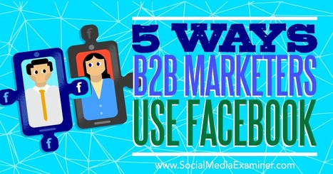 5 Ways B2B Marketers Use Facebook | The Perfect Storm Team | Scoop.it