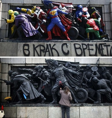 'Banksy of Bulgaria' Transforms Red Army Soldiers Into Superheroes - PSFK | Street Arts | Scoop.it