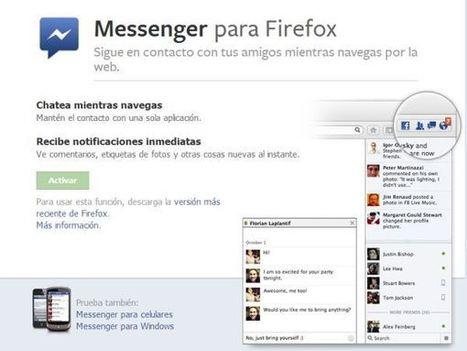 Mozilla lanza Social API para Firefox con Facebook Messenger como su primera integración | Antonio Galvez | Scoop.it