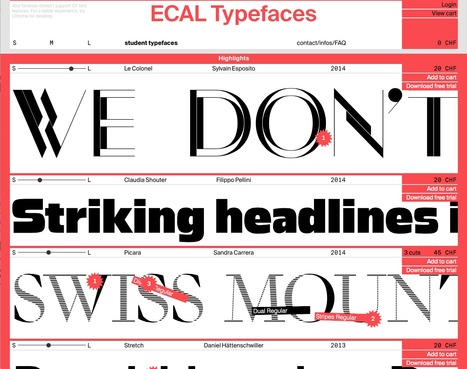 The new ECAL type foundry is online!   What's new in Visual Communication?   Scoop.it