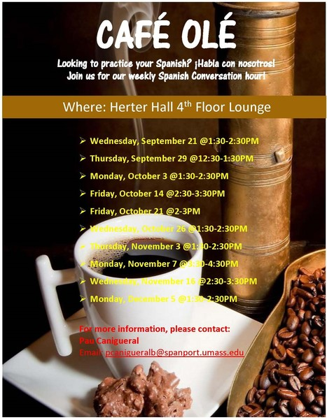 Fall 2016 CAFÉ OLÉ | The UMass Amherst Spanish & Portuguese Program Newsletter | Scoop.it